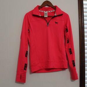 PINK VS quarter zip lightweight athletic  jacket